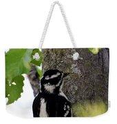 Downy Woodpecker 01 Weekender Tote Bag