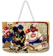 Halak Catches The Puck Stanley Cup Playoffs 2010 Weekender Tote Bag