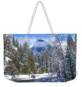 Half Dome And The Merced River Weekender Tote Bag