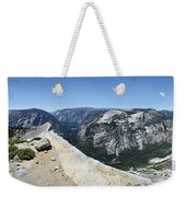 Half Dome And Yosemite Valley From The Diving Board - Yosemite Valley Weekender Tote Bag