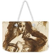Half-length Sketch Of A Young Woman Weekender Tote Bag
