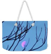 Half Moon Through The Trees Weekender Tote Bag