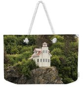 Halibut Cove Lighthouse Weekender Tote Bag
