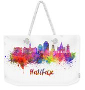 Halifax V2 Skyline In Watercolor Splatters With Clipping Path Weekender Tote Bag