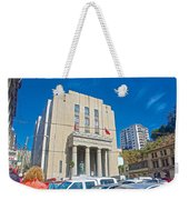 Hall Of Justice In Valparaiso-chile  Weekender Tote Bag
