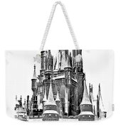 Hall Of The Snow King Monochrome Weekender Tote Bag