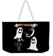 Halloween Bats Ghosts And Cat Weekender Tote Bag