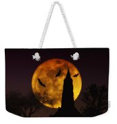 Halloween Moon Weekender Tote Bag