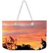 #halloween #morning #sky Is On #fire Weekender Tote Bag