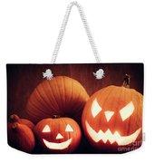 Halloween Pumpkins Glowing, Jack-o-lantern Weekender Tote Bag