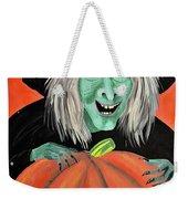 Halloween Witch And Pumpkin Art Weekender Tote Bag