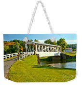 Halls Mill Covered Bridge Landscape Weekender Tote Bag