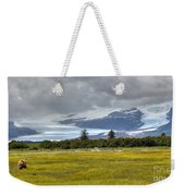 Hallo Glacier And A Bear Weekender Tote Bag