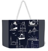 Hamburg In Miniature Weekender Tote Bag