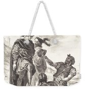 Hamlet And Horatio Before The Gravediggers (act V, Scene I) Weekender Tote Bag