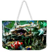 Hammerhead Shark Swimming Through New Abstract Coral Weekender Tote Bag