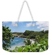Hamoa Beach Tropical Hana Maui Hawaii Waves And Surfers Weekender Tote Bag