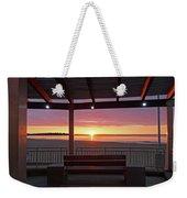 Hampton Beach Sunrise Hampton Beach State Park Hampton Nh Bench 2 Weekender Tote Bag