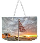 Hampton Beach Sunrise Hampton Beach State Park Hampton Nh Flag Weekender Tote Bag