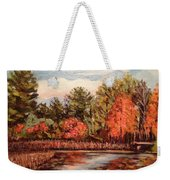 Hampton Ponds Fall Weekender Tote Bag