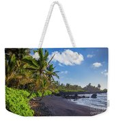 Hana Bay Palms Weekender Tote Bag by Inge Johnsson