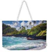 Hana Bay Waves Weekender Tote Bag
