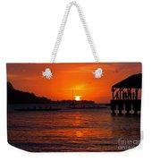 Hanalei Sunset Weekender Tote Bag by Mike  Dawson