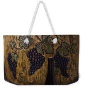 Hand Carved Wine Barrel Weekender Tote Bag