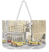Hand Drawn Sketch Of A Busy New York City Street Weekender Tote Bag