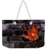 Hand On The Hole On The Wall Weekender Tote Bag