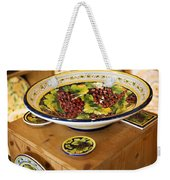 Hand Painted Dishes Weekender Tote Bag