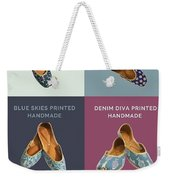 Hand Printed Embroidered Women Jutti Weekender Tote Bag