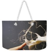Hand With The Flying Glass Of Liqueur Weekender Tote Bag