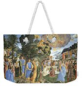 Handing Over Of The Tablets Of The Law Weekender Tote Bag