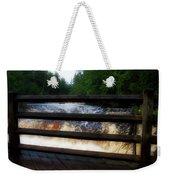 Handrails Tahquamenon Lower Falls Upper Peninsula Michigan 02 Weekender Tote Bag