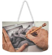 Hands Drawing Hands Weekender Tote Bag