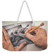 Hands Drawing Hands Weekender Tote Bag
