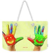 Hands In Art Weekender Tote Bag