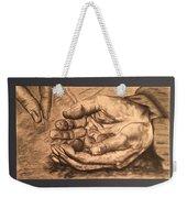 Hands Of Poverty Weekender Tote Bag