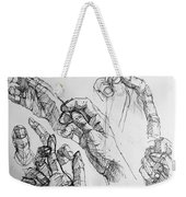 Hands With Line Pen Weekender Tote Bag