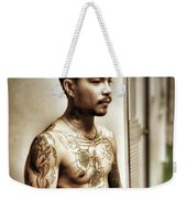 Handsome Man With Tattoos. #thailife Weekender Tote Bag