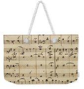 Handwritten Score Weekender Tote Bag