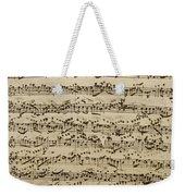 Handwritten Score For Mass In B Minor Weekender Tote Bag