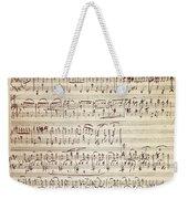 Handwritten Score For Waltz For Piano, Opus 39 Weekender Tote Bag