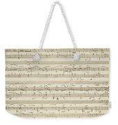 Handwritten Score For Waltz In Flat Major Weekender Tote Bag