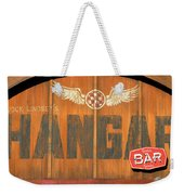 Hangar Bar Entrance Sign Weekender Tote Bag