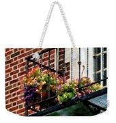 Hanging Basket On Fire Escape Weekender Tote Bag