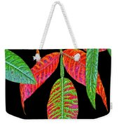 Hanging Green And Red Leafs... Weekender Tote Bag