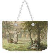 Hanging Out The Laundry By Jean-francois Millet Weekender Tote Bag