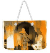 Hanging Out Travel Exotic Arches Orange Abstract Square India Rajasthan 1c Weekender Tote Bag